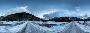 Chamonix Snow River