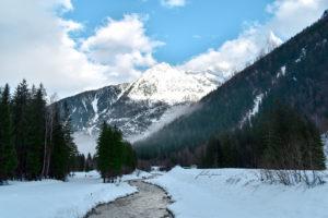River Through Snowy Mountain