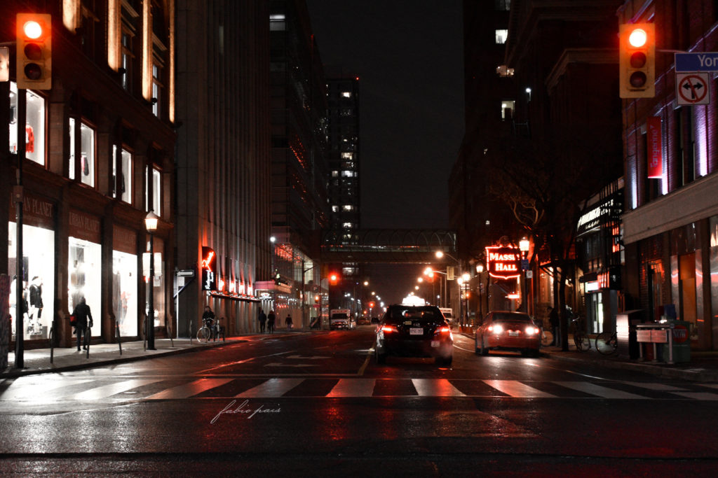 Toronto City Streets Red Lights